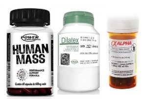 Kit Anabolico Human Mass + Dilatex + Alpha Axcell - Power Supplements