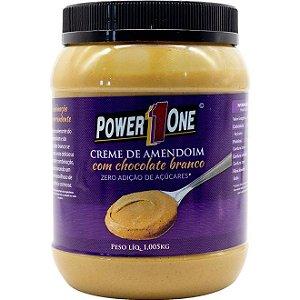 Creme de Amendoim Chocolate Branco (1,005kg) Power 1 One