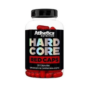 Hardcore Red Caps - 20 Cápsulas - Atlhetica Nutrition