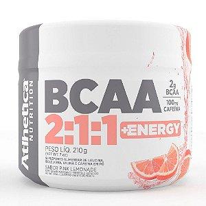 Bcaa 2:1:1 + Energy Com Cafeína (210g) - Atlhetica Nutrition