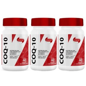 kit 3x coenzima q10 (100mg) 60 cápsulas - Vitafor
