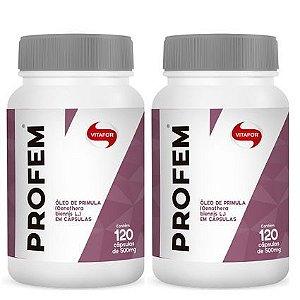 kit 2x profem óleo de prímula (500mg) 120 cápsulas - vitafor