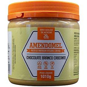 Pasta De Amendoim Integral 1kg C/ Mel Choc Branco Crocante