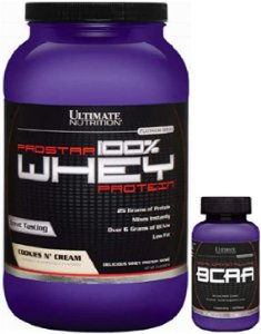Combo Prostar 100% Whey 2lbs + Bcaa 100% 60caps - Ultimate Nutrition