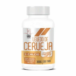 Levedo de Cerveja + Cálcio - 300 Tabletes - Health Labs