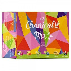 Cha Chanical Tea Fit Seca barriga - Novo Chánical Mix. Caixa com 90 sachês (6 sabores)