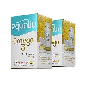 Kit 2x Omega 3 - 120 Cápsulas - Equaliv