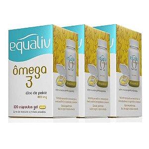 Kit 3x Omega 3 - 120 Cápsulas - Equaliv
