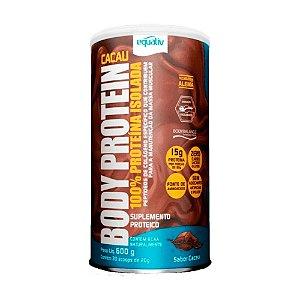 Body Protein Cacau 100% Whey Isolada 600g - Equaliv
