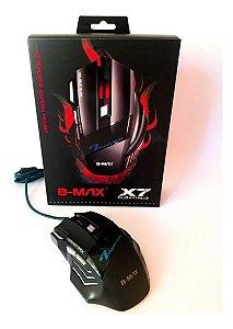 Mouse Gamer Óptico Usb 2400 Dpis Para Pc Usb X7