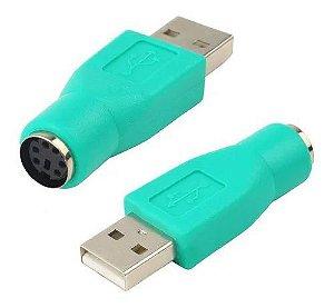 Adaptador Usb Macho X Ps2 Femea Para Teclado Mouse
