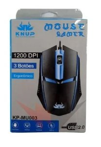 Mouse Gamer Led Usb 2.0 3 Botões 1200dpi Kp-mu003 Knup