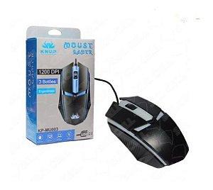 5 Mouse Gamer Usb 2.0 3 Botões 1200dpi