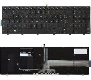 Teclado P/ Notebook Dell Inspiron 15-5000 Ç