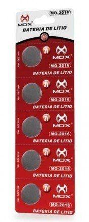 Bateria Mox Lithium 3v, (pack 5un) Cr2016/cr2025/cr2032