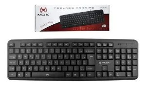 Teclado Usb Multimidia Para Pc Mox-kb120 Plug E Play