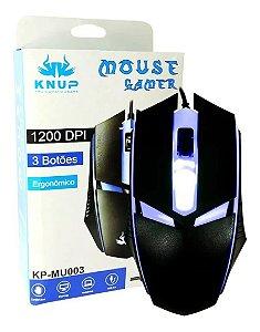 Mouse Para Jogos Com Led Ergonômico Óptico 1200 Dpi