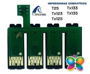 Chip Para Bulk Epson T25, Tx123, Tx125, Tx123, Tx133, Tx135