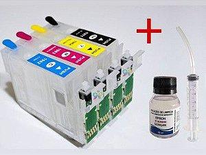 Cartuchos Recarregáveis  Xp201 Xp204 Xp214 Xp401 Xp411 + Tinta Pigmentada