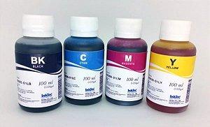 Kit - 4 Frascos - 100 Ml Tinta Corante Inktec Hp - H0005 / H0006