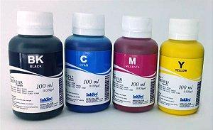 Kit - 4 Frascos - 100 Ml - Tinta Pigmentada Inktec Epson - E0007