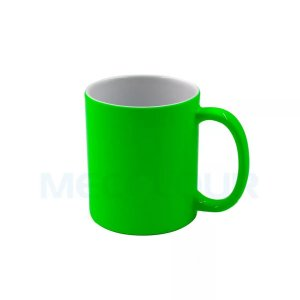 Caneca Neon Verde Clara Resinada P/ Sublimação AAA Mecolour
