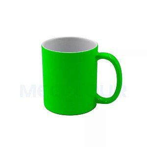 10 Canecas Neon Verde Clara Resinada P/ Sublimação AAA Mecolour