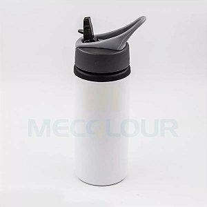 Squeeze Branco Resinado Com Bico Sublimação Mecolour 600ml