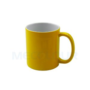 36 Canecas Neon Amarela Resinada P/ Sublimação AAA Mecolour
