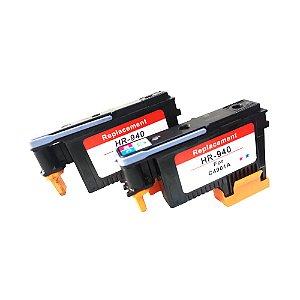 Kit 2 Cabeças De Impressão Compatíveis 940 ( C4901A ) Hp BY - CM