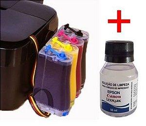 Bulk Ink Epson Tx620, Tx560, T42w+ Kit Limpeza+ Tinta Inktec