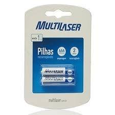 2 pilhas recarregaveis multilaser
