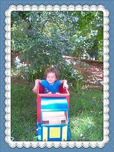 Caminhão recolhe brinquedos