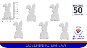 APLIQUE COELHO EVA BRANCO - PCTE C/ 50 Unid