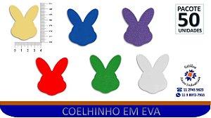 APLIQUE COELHO EM EVA COLORIDO- PCT 50/Unid
