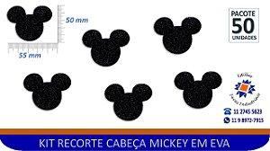 #RECORTE CABEÇA MICKEY EM EVA