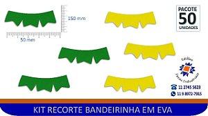 #RECORTE BANDEIRINHA EM EVA