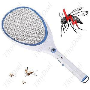Raquete Mata Mosquito com Led e Recarregador