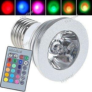 Lâmpada LED Colorida por Controle Remoto - Frete Grátis