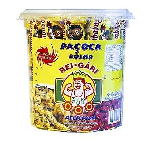 Pote de Paçoquinha de Amendoim Rolha Embrulhada com 56un