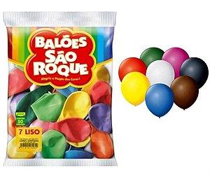Balões São Roque  nº7 50 unidades
