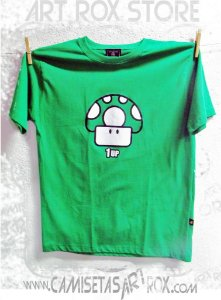 CAMISETA MARIO BROS - 1UP