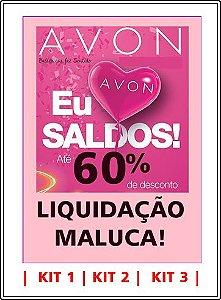 LIQUIDAÇÃO MALUCA AVON - KITS COM 18 PRODUTOS CADA.