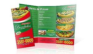 Folhetos PARA PIZZARIA  - 10.000 (Dez mil) unidades - ARTE PRONTA