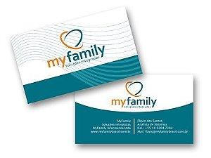 D  -   1.000 unidades  Cartões de visita  - -  (Arte Pronta)