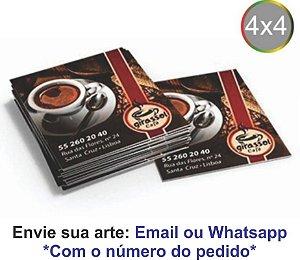 MINI CARTÃO - IMPRESSÃO FRENTE E VERSO 4X4