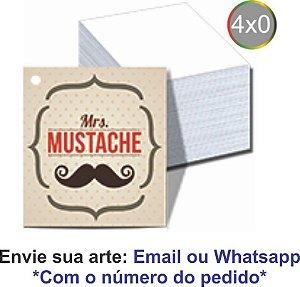TAGS COM FURO - 4x0 - IMPRESSÃO FRENTE