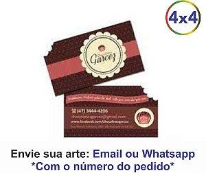 CARTÕES DE VISITA COM CORTE ESPECIAL  - 48H