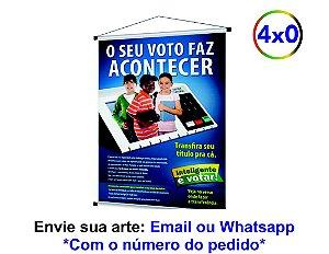 BANNER - IMPRESSÃO FRENTE - 280G - 70X120 CM