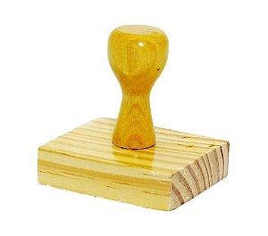 Carimbos de madeira - 3 unidades  - PAGO | RECEBIDO | CONFERIDO  - 14X38 MM